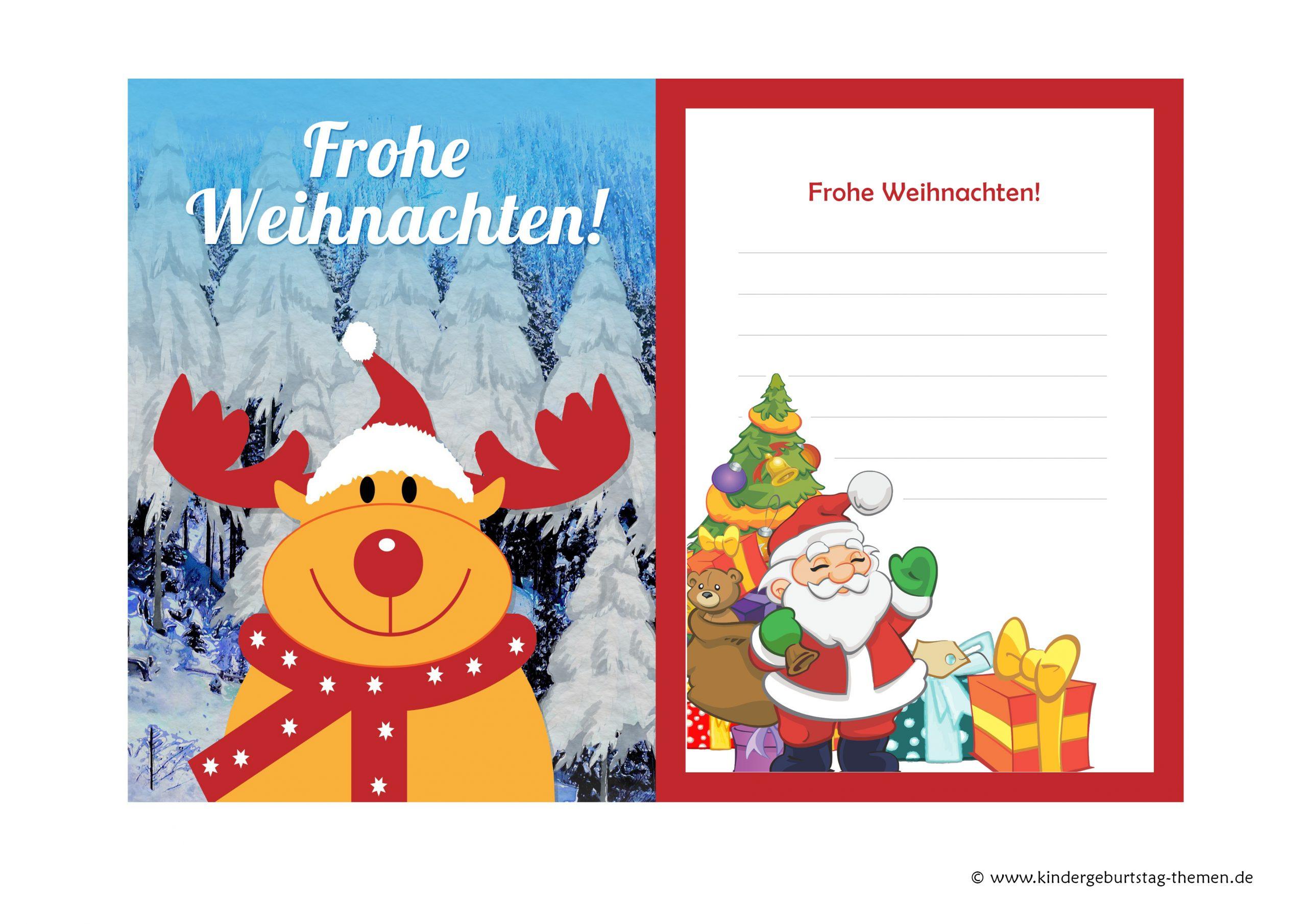 Weihnachtskarten Basteln Mit Kindern: Kostenlose Vorlagen für Weihnachtskarten Kostenlos Gratis