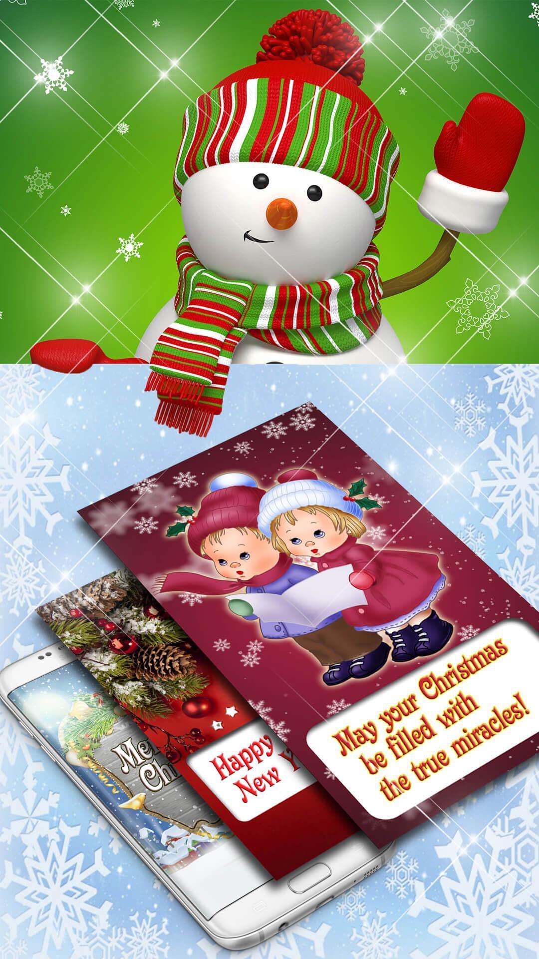 Weihnachtskarten 🎄 Neujahrsgrüße Kostenlos Für Android bestimmt für Weihnachtskarten Kostenlos Gratis
