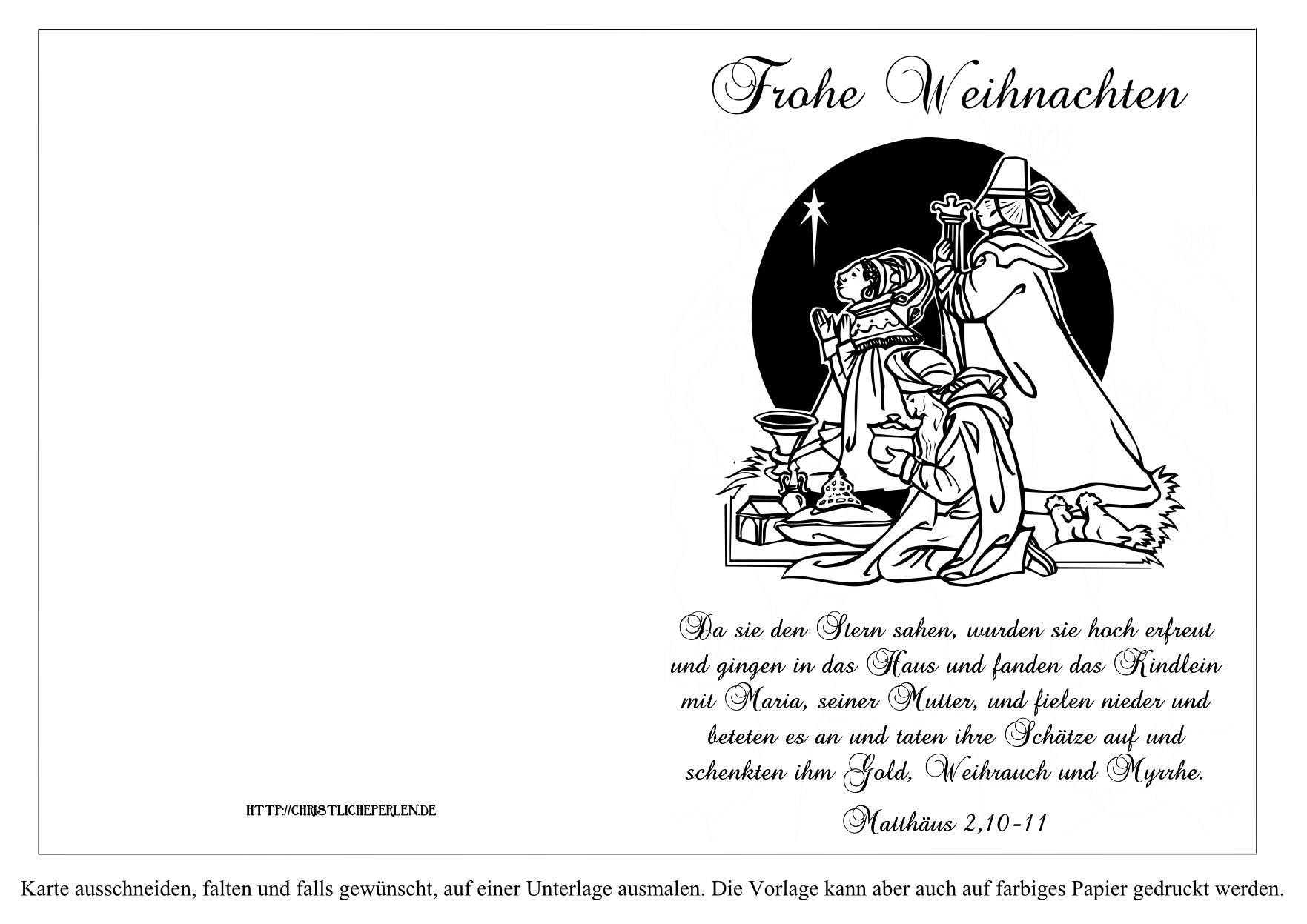 Weihnachtskarten Und Geschenkanhänger Zum Ausdrucken über Weihnachtskarte Drucken