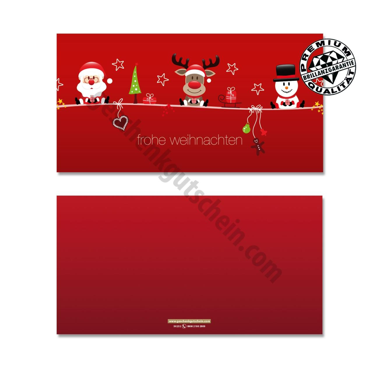 Weihnachtskarten | Weihnachten | Xk232 in Weihnachtskarte Drucken