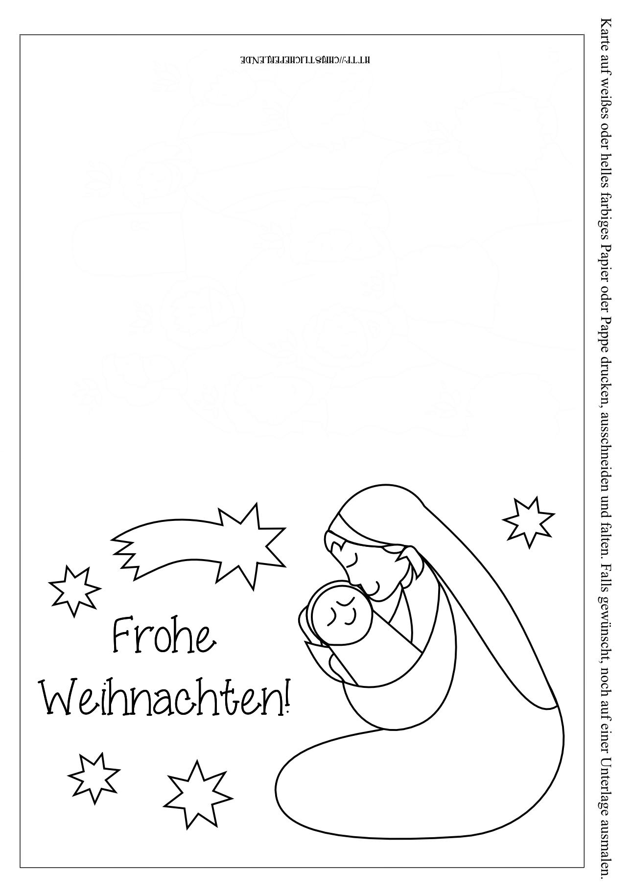 Weihnachtskarten Zum Ausdrucken | Christliche Perlen bei Weihnachtskarte Drucken