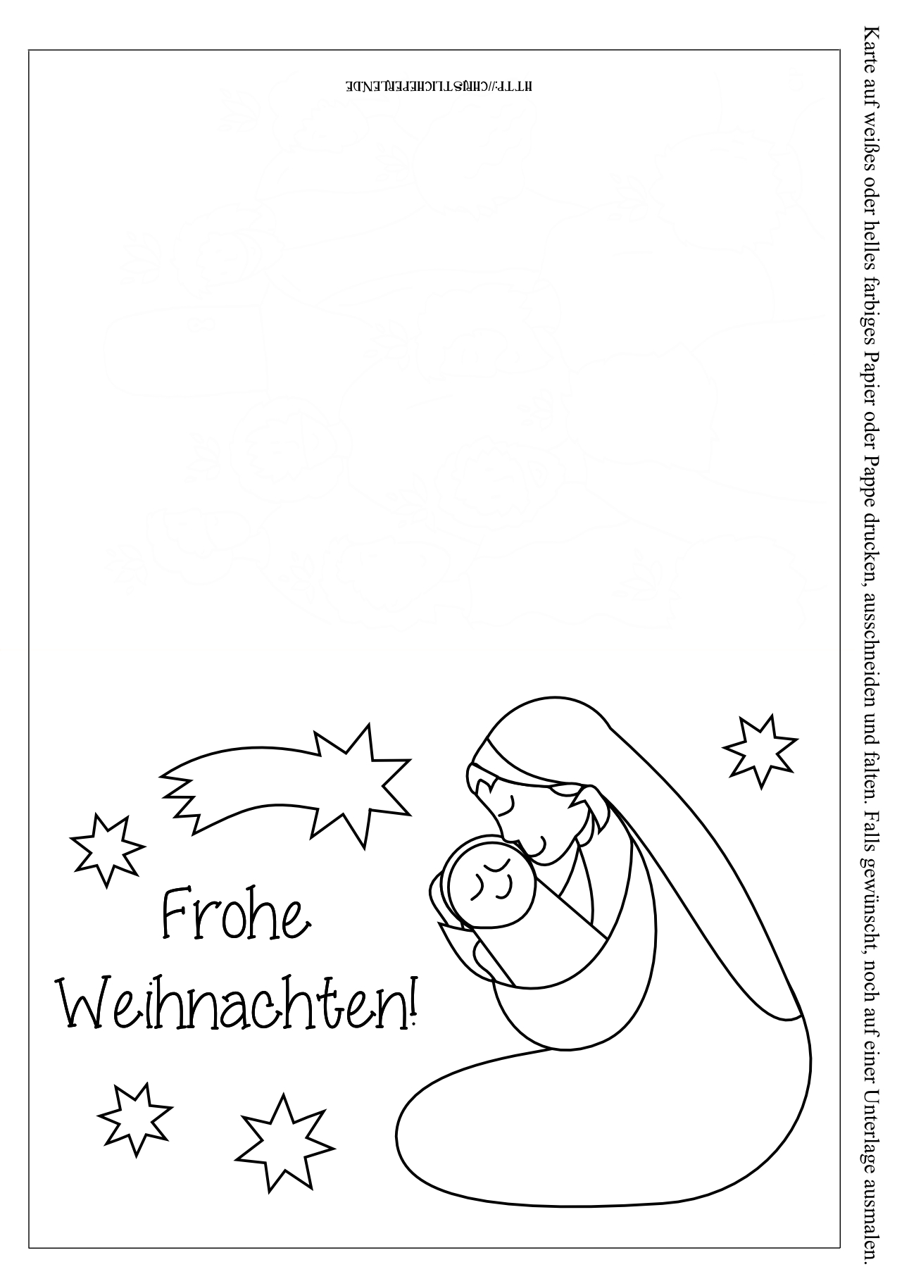 Weihnachtskarten Zum Ausdrucken | Christliche Perlen innen Weihnachtskarten Zum Ausdrucken