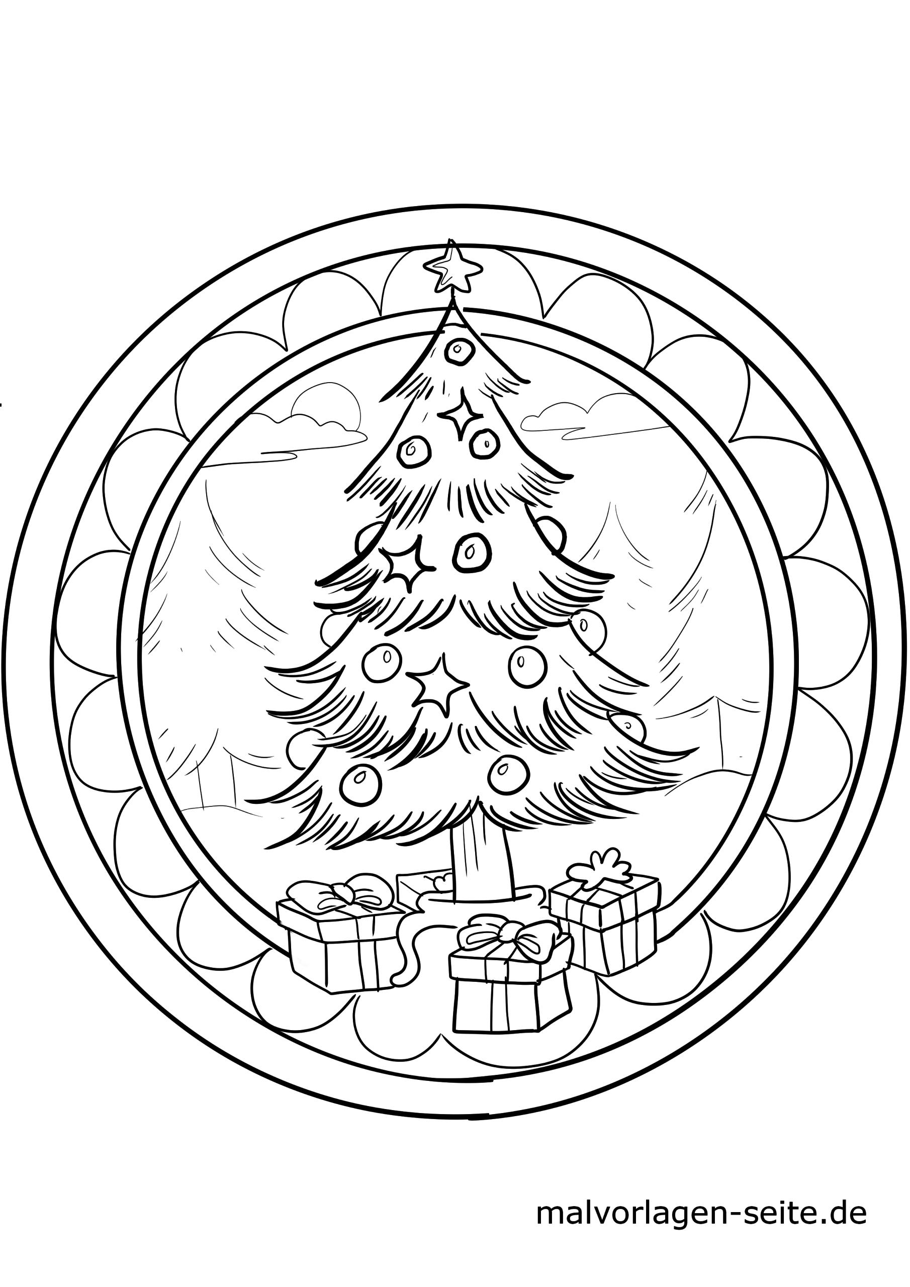 Weihnachtsmandala Zum Ausmalen | Weihnachten - Ausmalbilder in Weihnachts Ausmalbilder Kostenlos