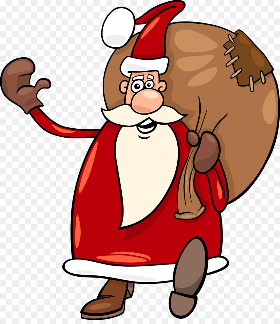 Weihnachtsmann Cartoon - Cartoon Santa Claus Png über Comic Weihnachtsmann