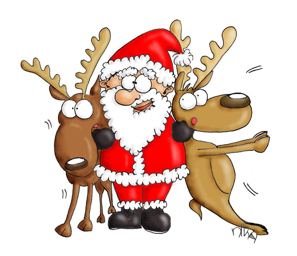 weihnachtsmann  liebe rentier comic zuneigung von nika
