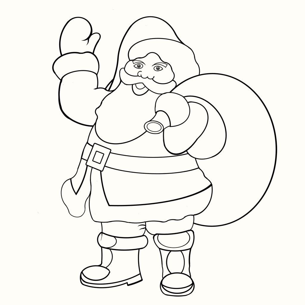 Weihnachtsmann – Malvorlage « Gedichteweihnachtsmann für Malvorlage Weihnachtsmann