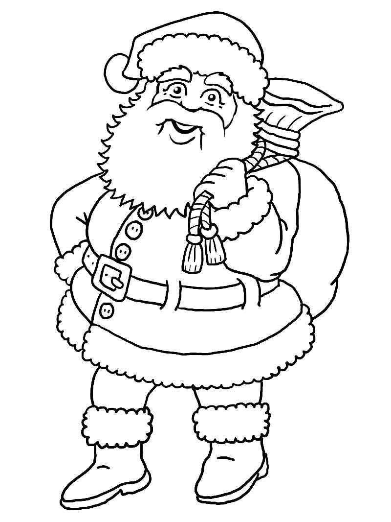 Weihnachtsmann (Malvorlage) verwandt mit Malvorlage Weihnachtsmann