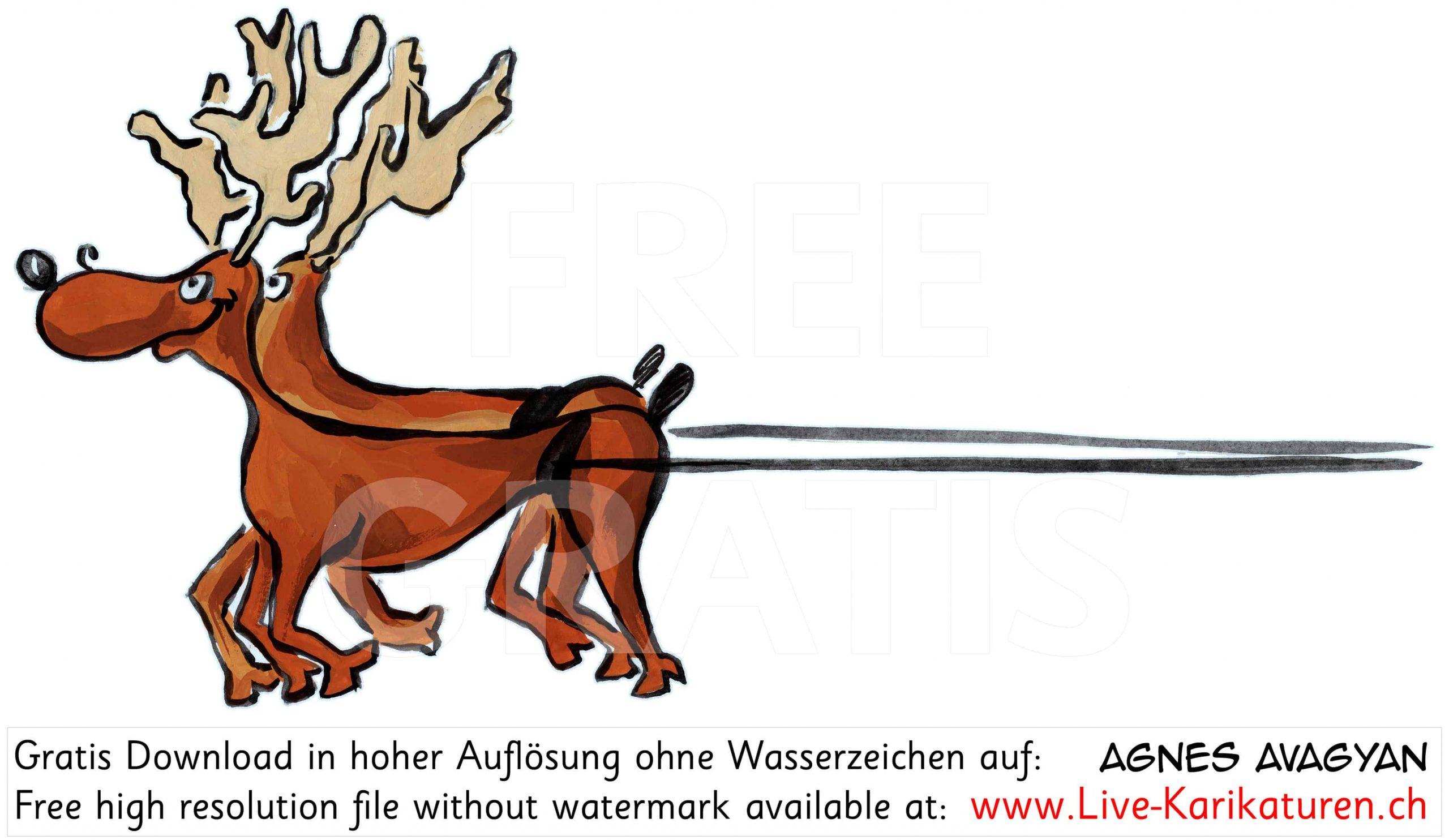 Weihnachtsmann Schlitten Links Rentiere — Agnes Live über Nikolaus Rentiere