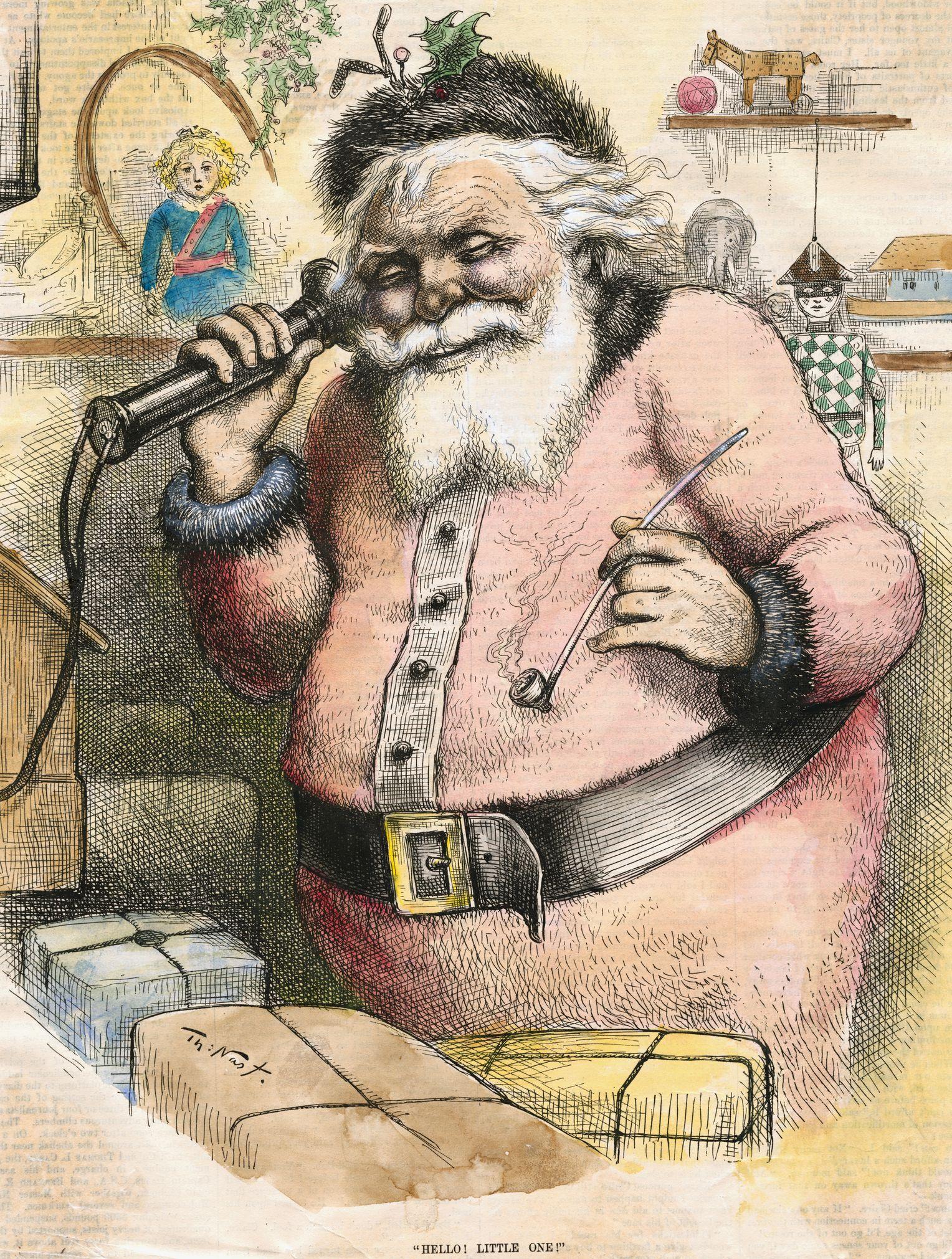 Weihnachtsmann: Wirklich Eine Erfindung Von Coca Cola? - Der mit Ursprüngliche Farbe Gewand Weihnachtsmann