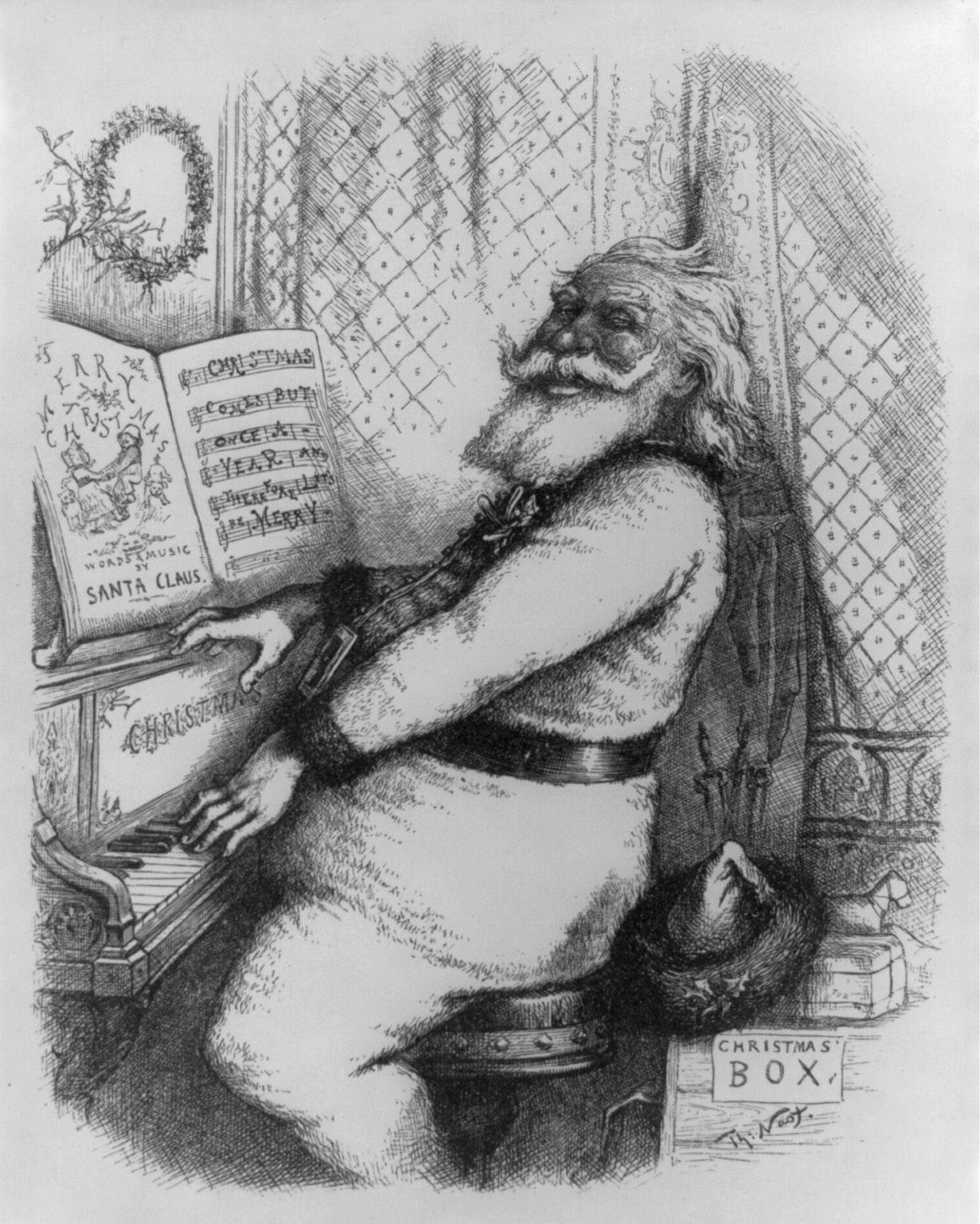 Weihnachtsmann: Wirklich Eine Erfindung Von Coca Cola? - Der über Ursprüngliche Farbe Gewand Weihnachtsmann