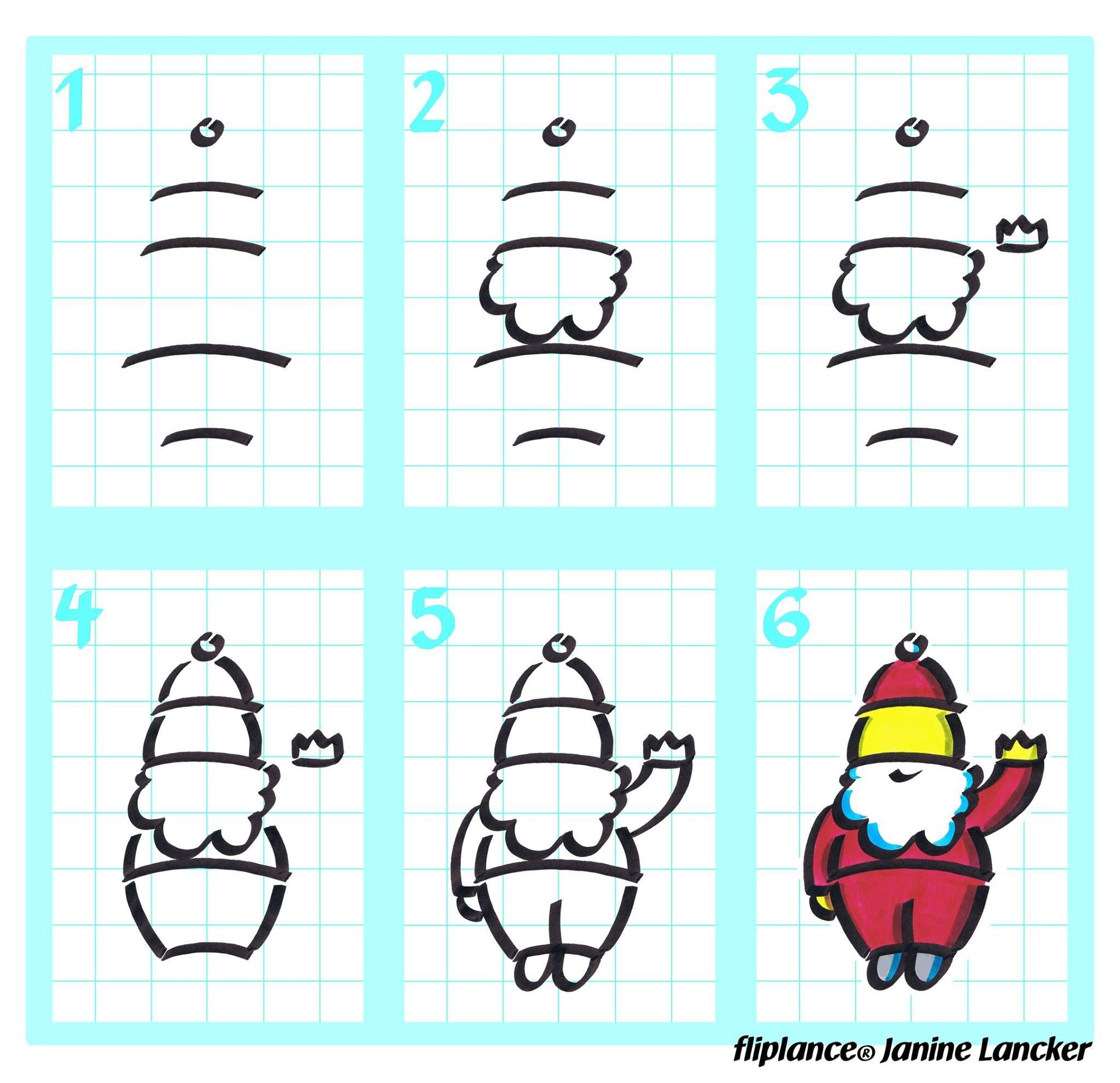 Weihnachtsmann Zeichnen: So Zeichnest Du In Sechs Schritten für Weihnachtsmann Malen