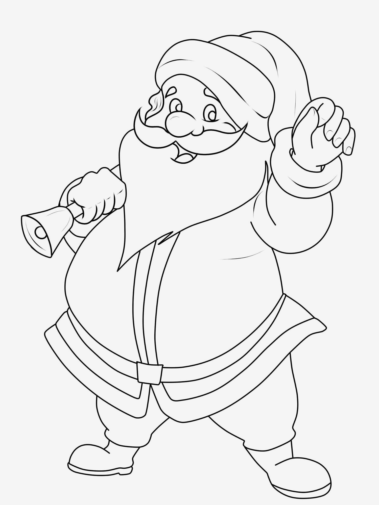Weihnachtsmann Zum Ausmalen – Ausmalbildpilz für Weihnachtsmann Zum Ausmalen