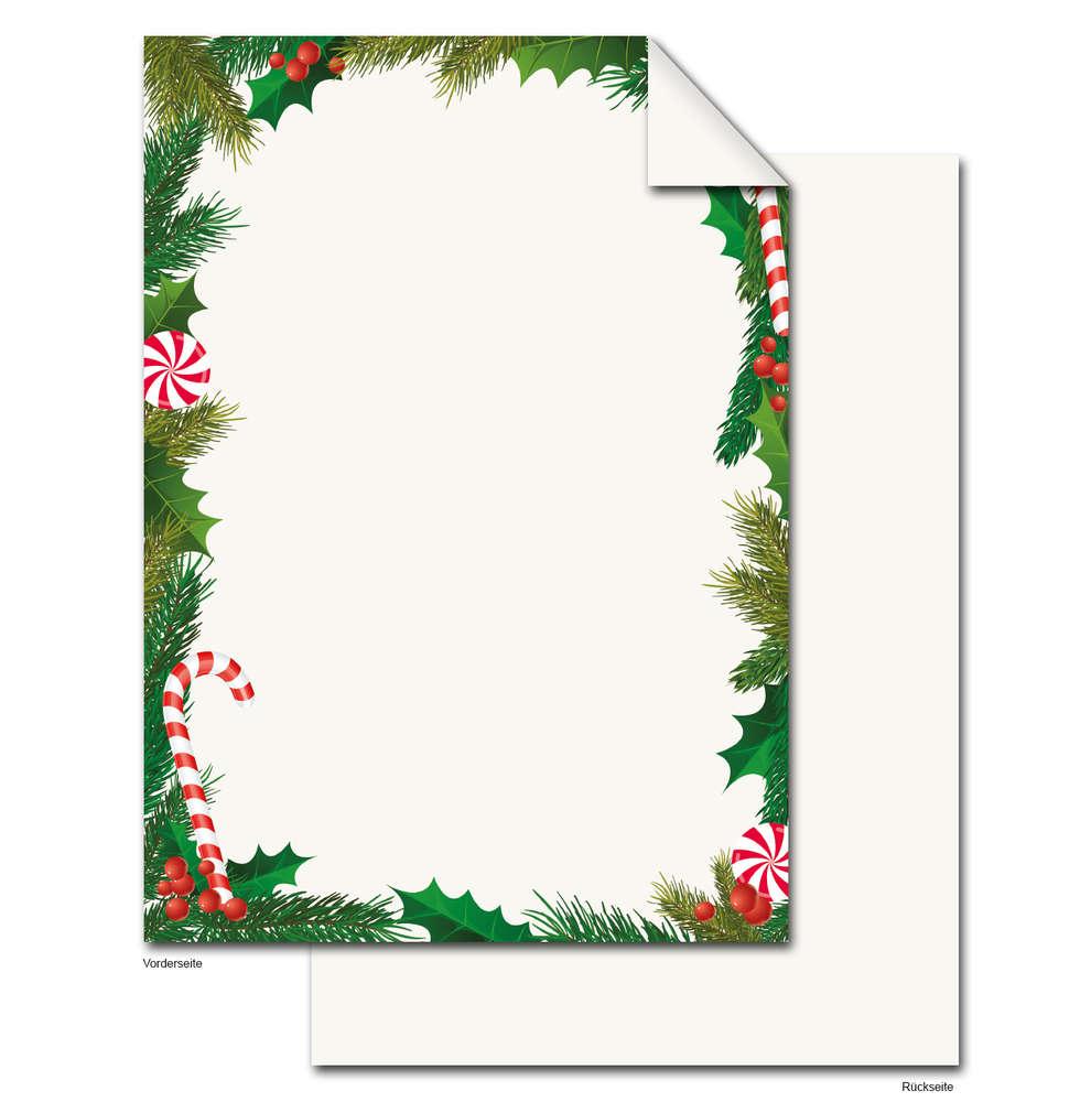 Weihnachtspapier Weiß Rot Grün Briefpapier Din A4 mit Weihnachten Briefpapier