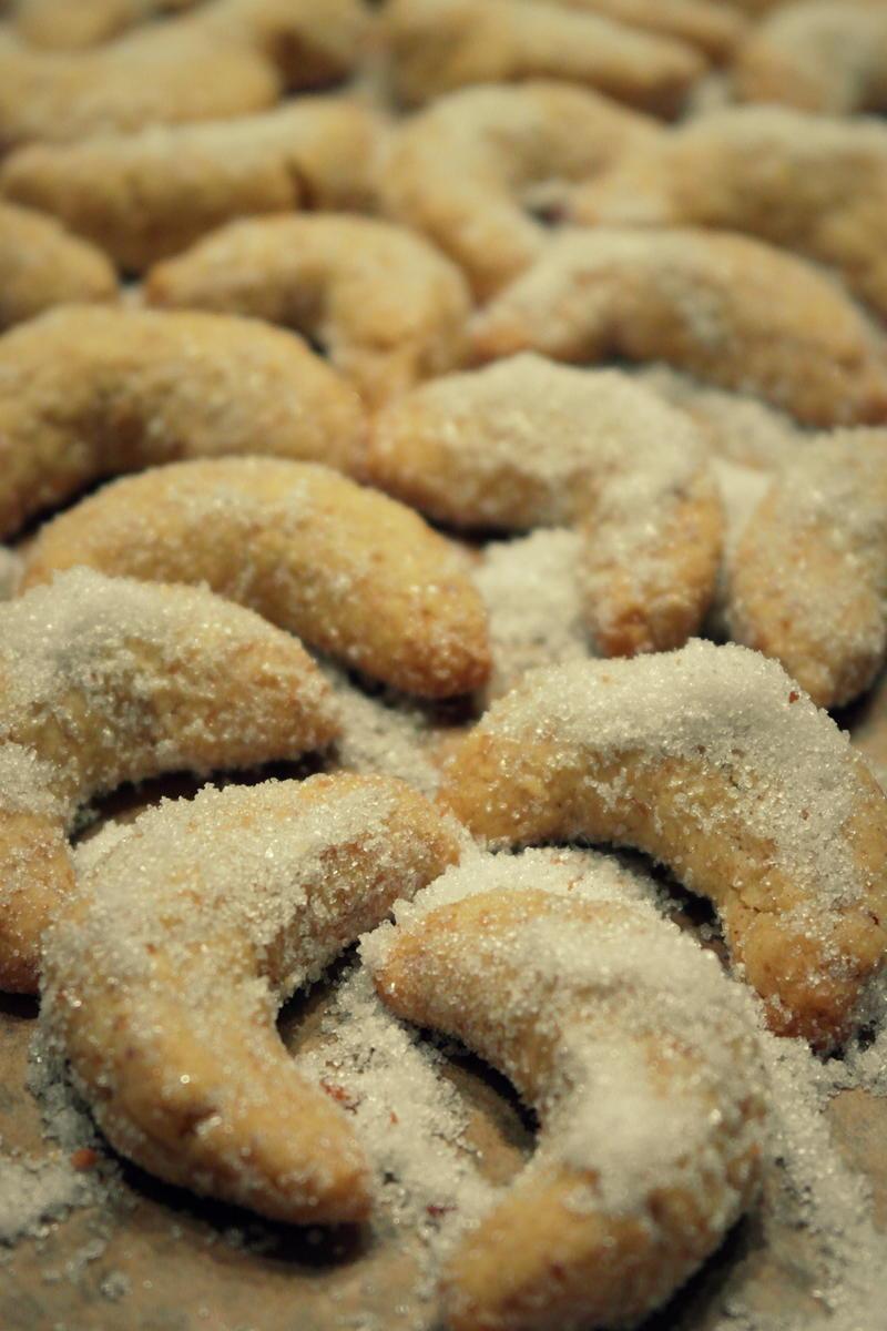 Weihnachtsplätzchen: Mürbe Vanillekipferl mit Weihnachtsplätzchen Vanillekipferl Rezept