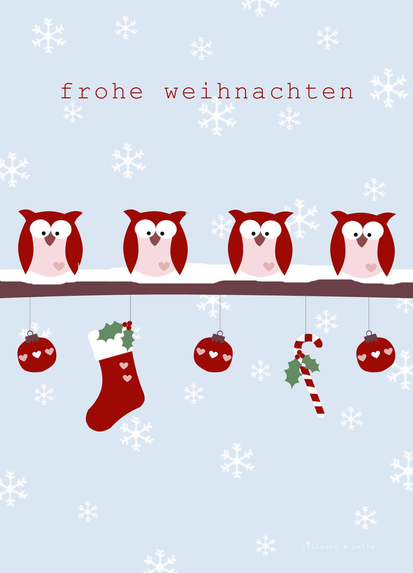 Weihnachtspostkarten Als Freebie Zum Ausdrucken Für Euch für Weihnachtsgrüße Zum Ausdrucken Kostenlos