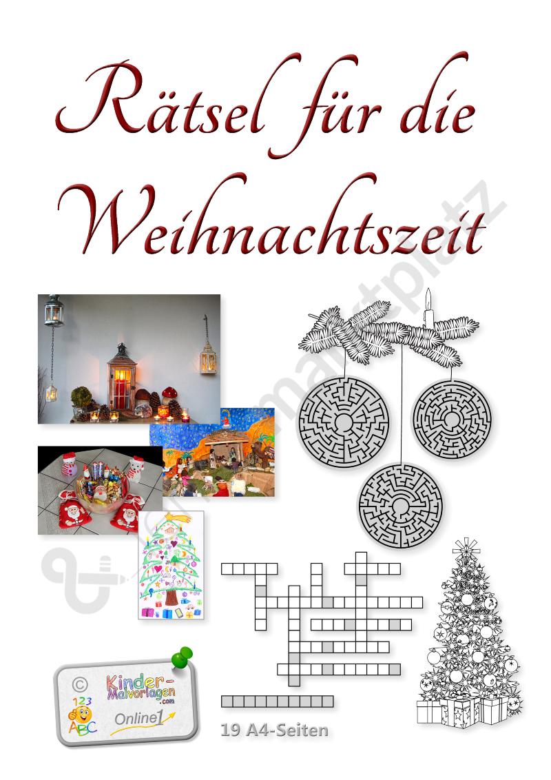 Weihnachtsrätsel – 19 Rätselseiten Für Die Advents- Und verwandt mit Weihnachtsrätsel Für Kindergartenkinder