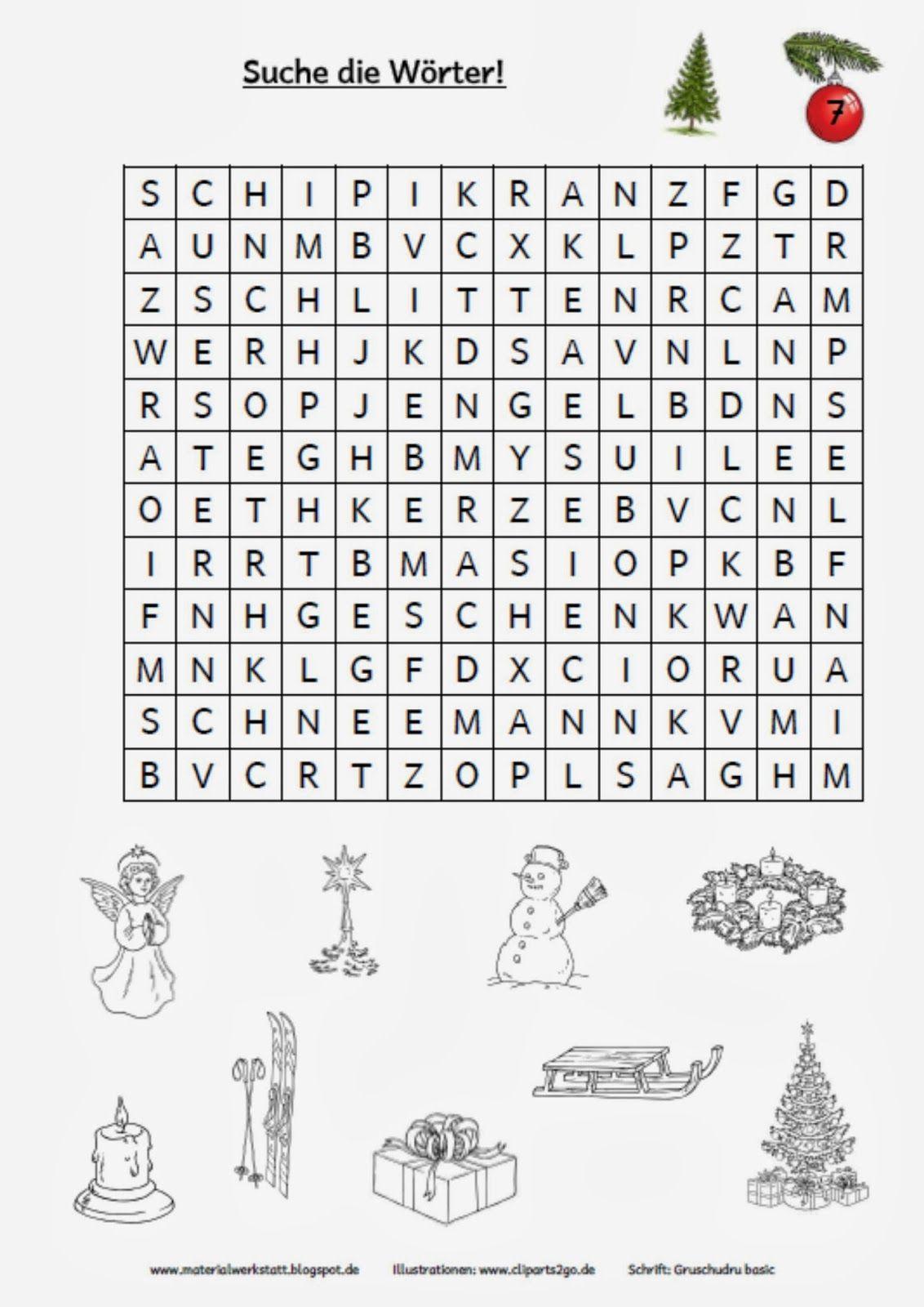 Weihnachtswerkstatt | Weihnachten Spiele, Deutsche bestimmt für Weihnachtsrätsel Für Kindergartenkinder