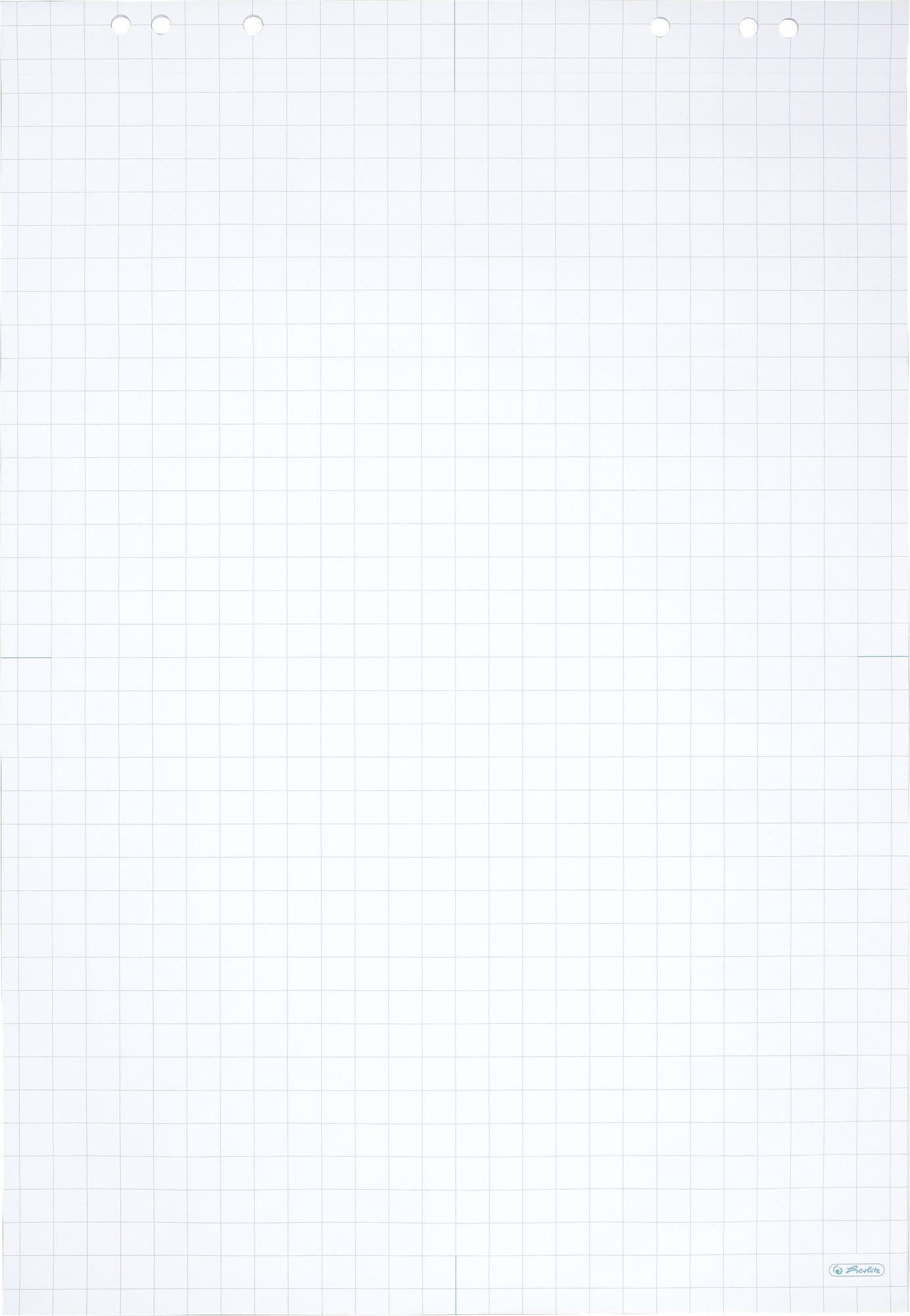 Weißes Flipchart-Papier 68 X 99 Cm, Kariert mit Kariertes Blatt