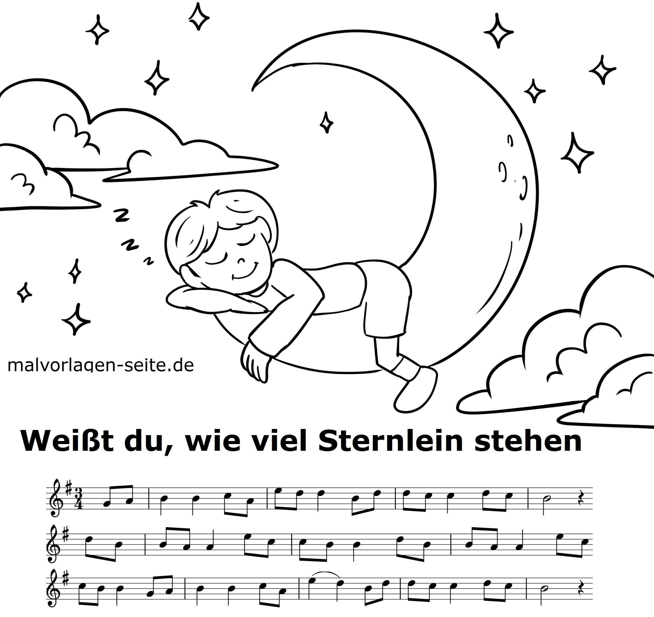 Weißt Du Wieviel Sternlein Stehen - Noten Und Text Zum ganzes Liedtext Weißt Du Wieviel Sternlein Stehen