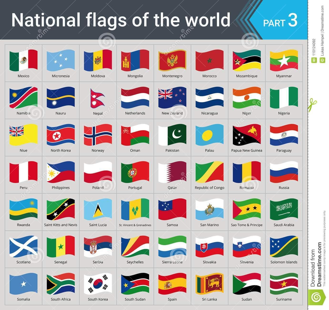 Wellenartig Bewegende Flaggen Der Welt Sammlung Flaggen bei Flaggen Der Welt Download