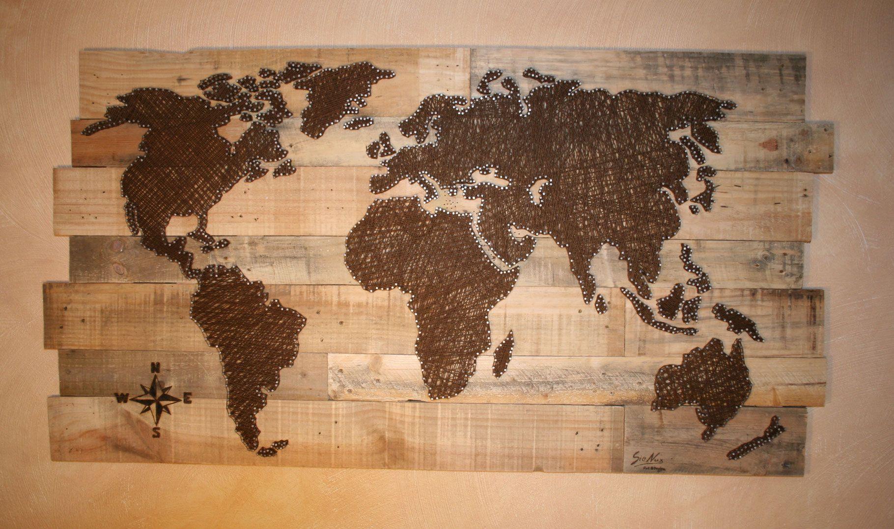 Weltkarte | Fadenbilder, Faden, Bilder verwandt mit Weltkarte Selber Machen