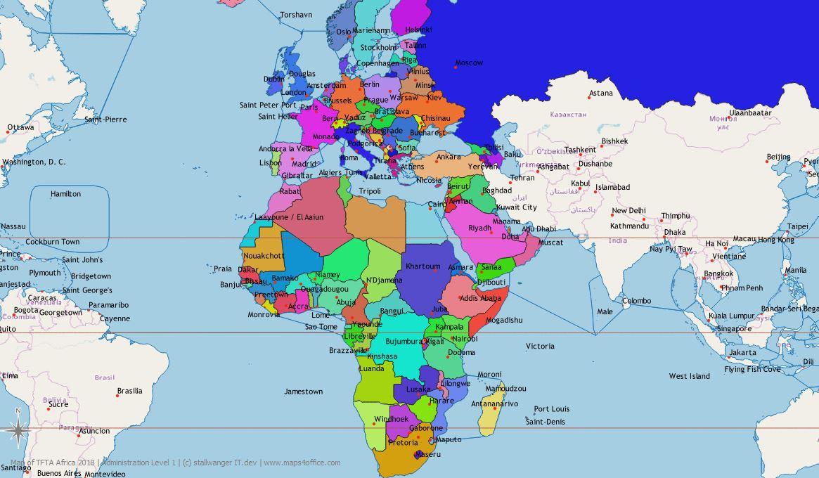 Weltkarte Mit Allen Ländern Im Vektor-Format Für Powerpoint bei Weltkarte Länder Beschriftet