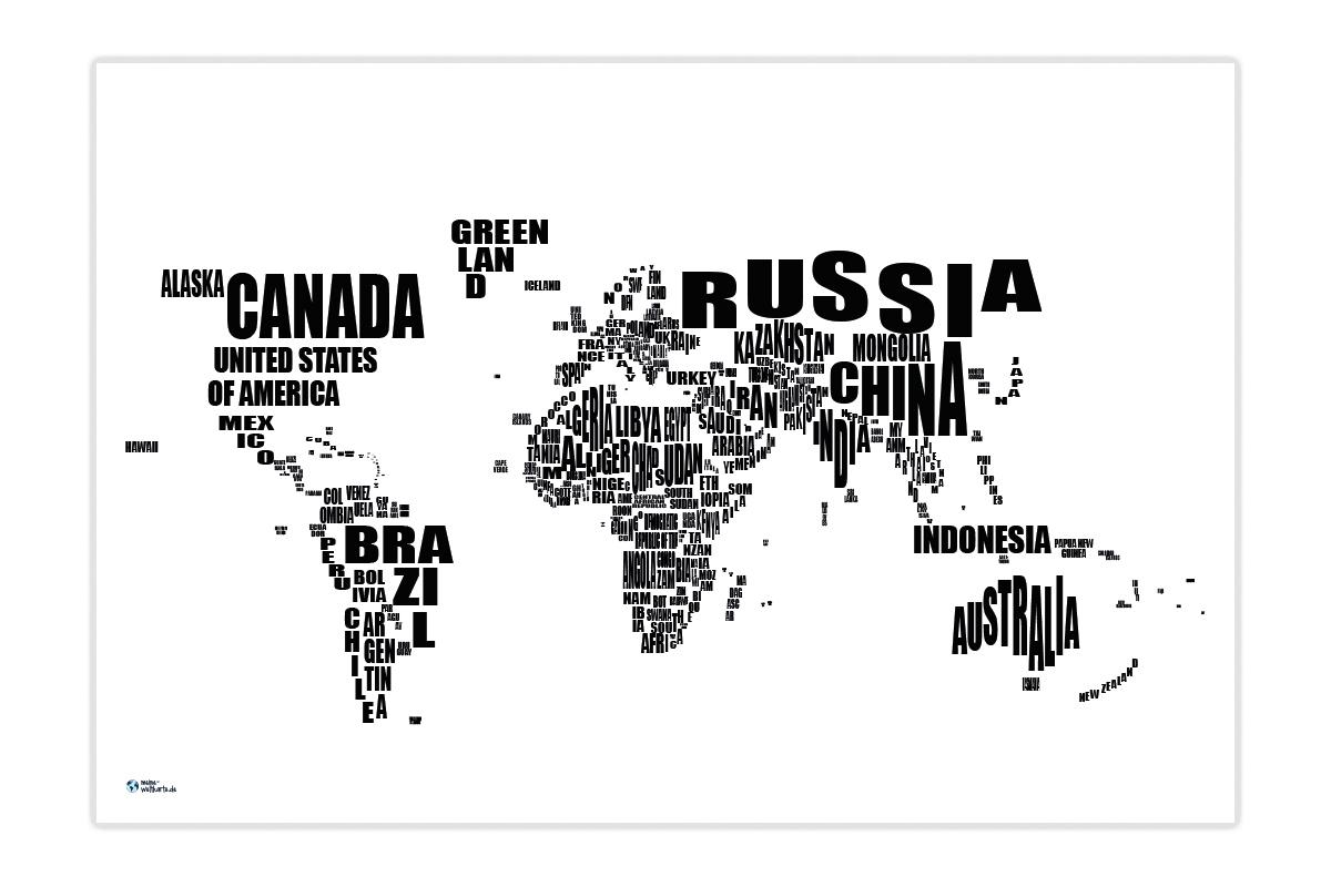 Weltkarte Namen (Farbig) Designen | Meine-Weltkarte verwandt mit Weltkarte Farbig
