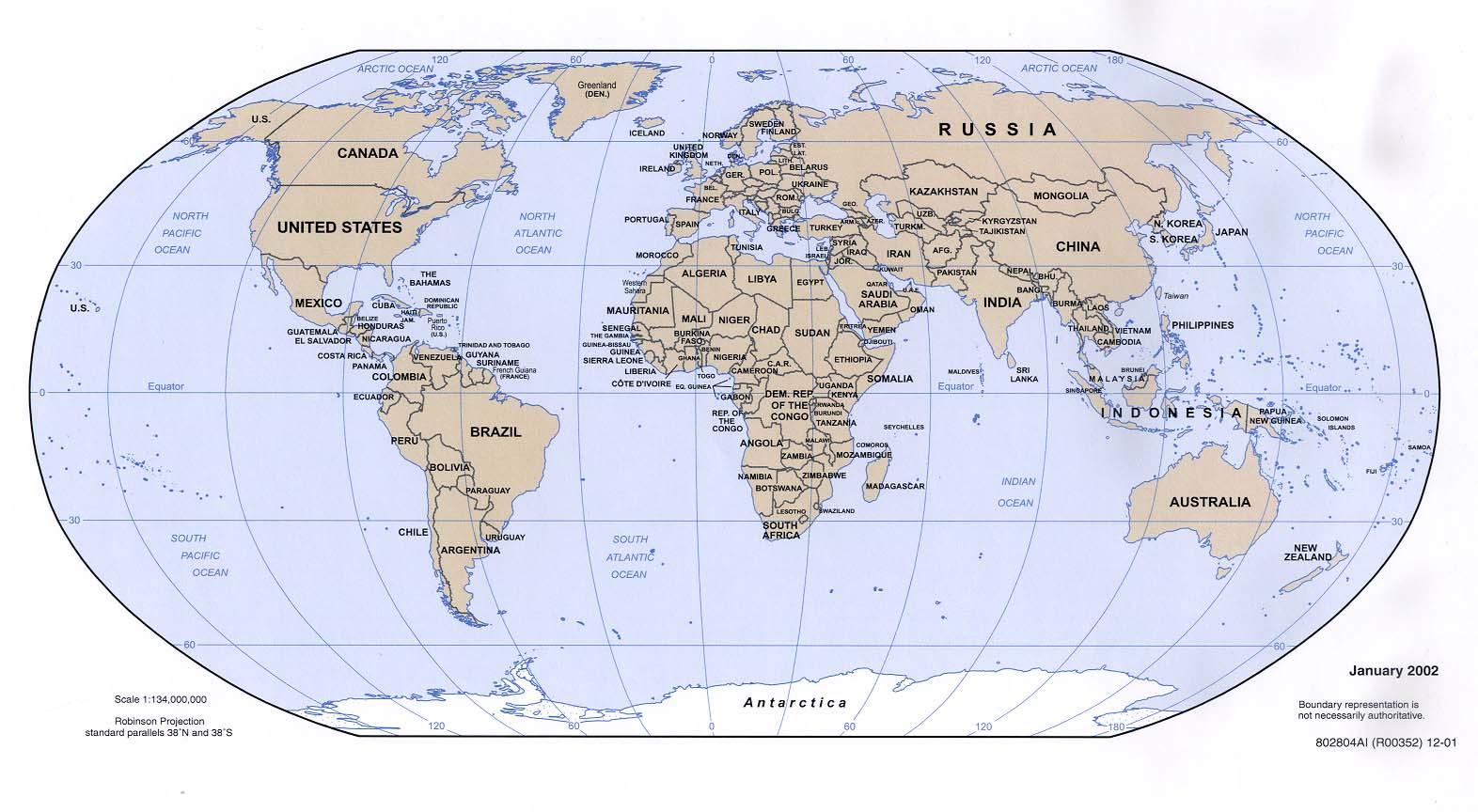 Weltkarte (Politische Karte) : Weltkarte - Karten Und ganzes Weltkarten Kostenlos Download