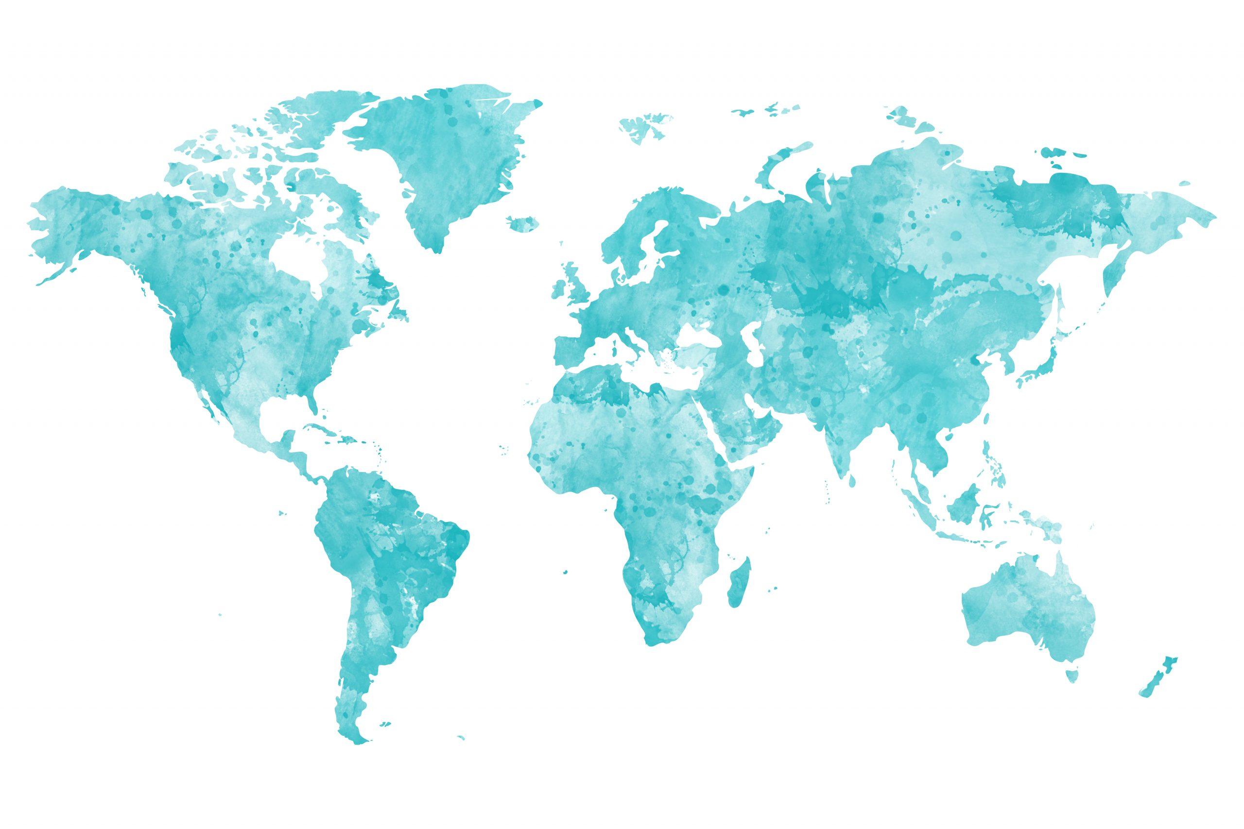 Weltkarte Zum Ausdrucken Oder Für Ihre Wandbild-Gestaltung in Weltkarte Din A3