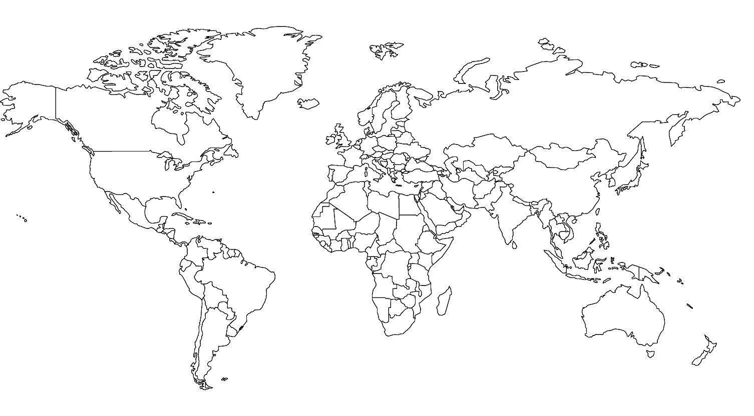 Weltkarte Zum Ausmalen - Az Ausmalbilder | Weltkarte Zum verwandt mit Weltkarte Umrisse