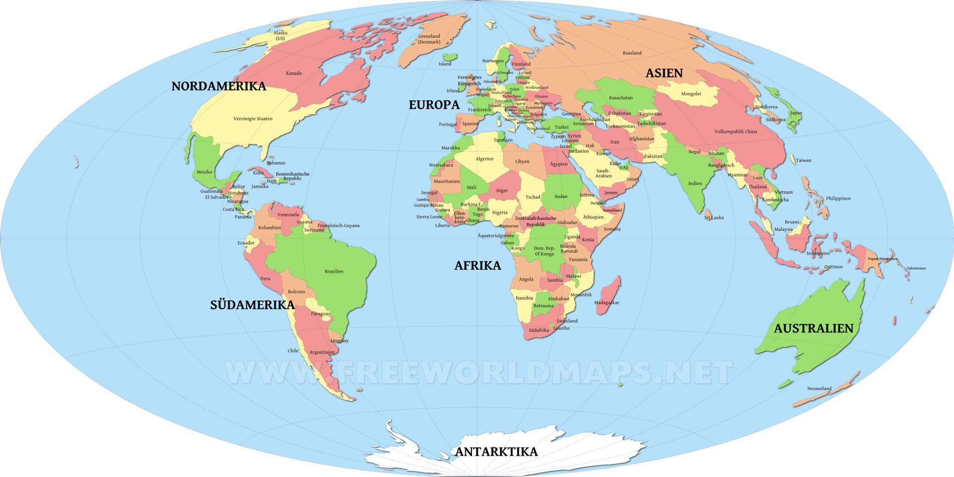 Weltkarten Kostenlos - Freeworldmaps bestimmt für Länder Der Welt Karte