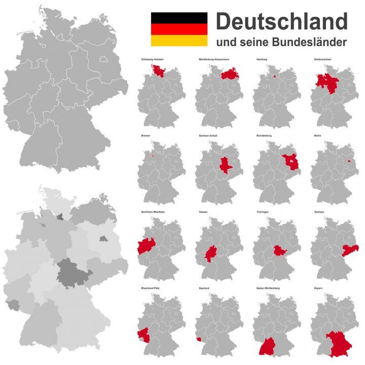 Wie Heißen Die 16 Bundesländer Von Deutschland Und Ihre für Bundesländer Deutschland Mit Hauptstädten Karte