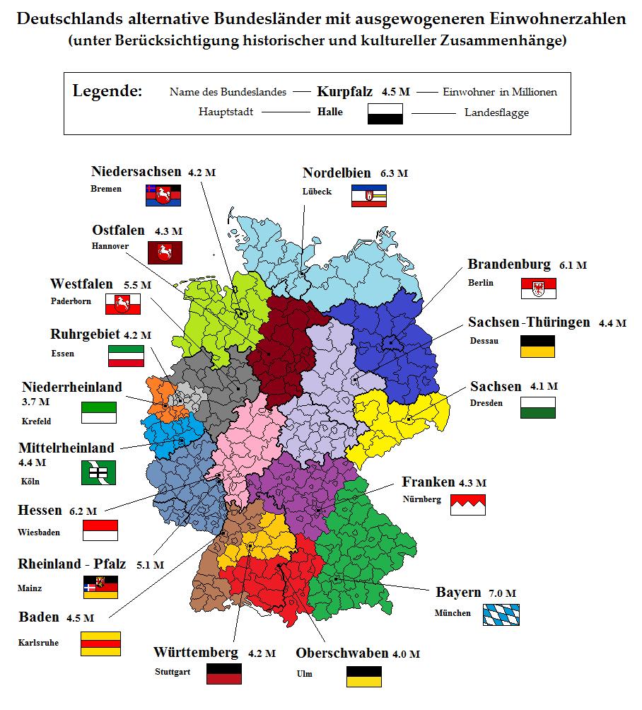Wie Heißen Die Bundesländer In Deutschland | Wie Heißen Die ganzes Die Deutschen Bundesländer Und Ihre Hauptstädte