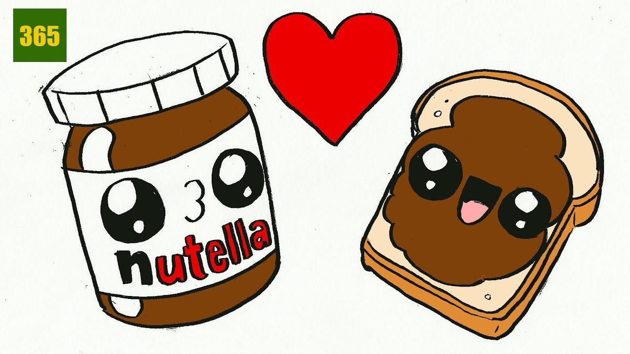 Wie Kann Man Ein Nutella Und Brot Kawaii Zeichnen Schritt ganzes Süße Bilder Zum Zeichnen