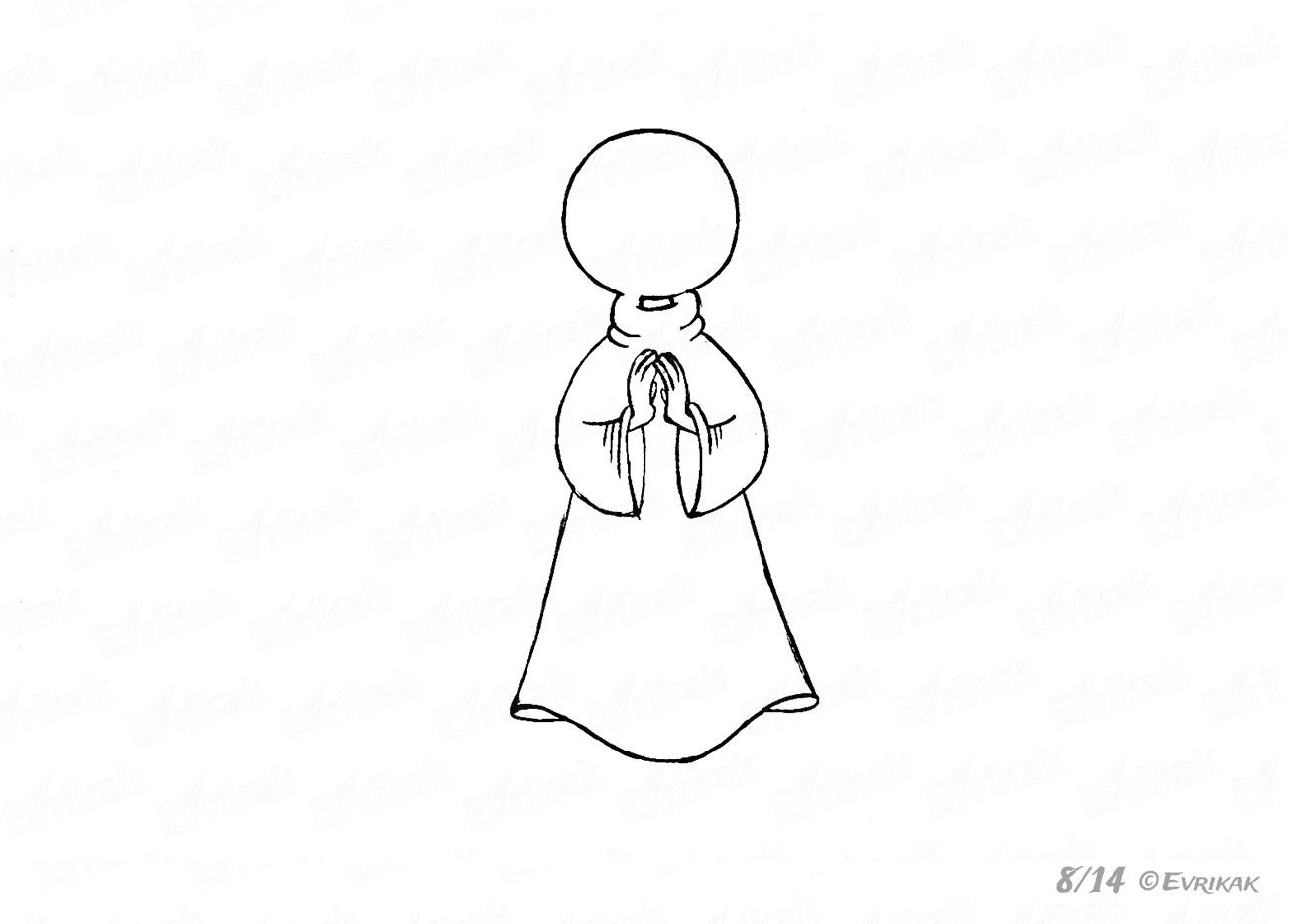 Wie Kann Man Schritt Für Schritt Einen Engel Zeichnen innen Engelsgesicht Malen