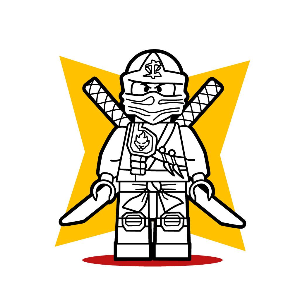 Wie Malt Man Der Lego Ninja Von Ninjago - De.hellokids mit Ninjago Malen
