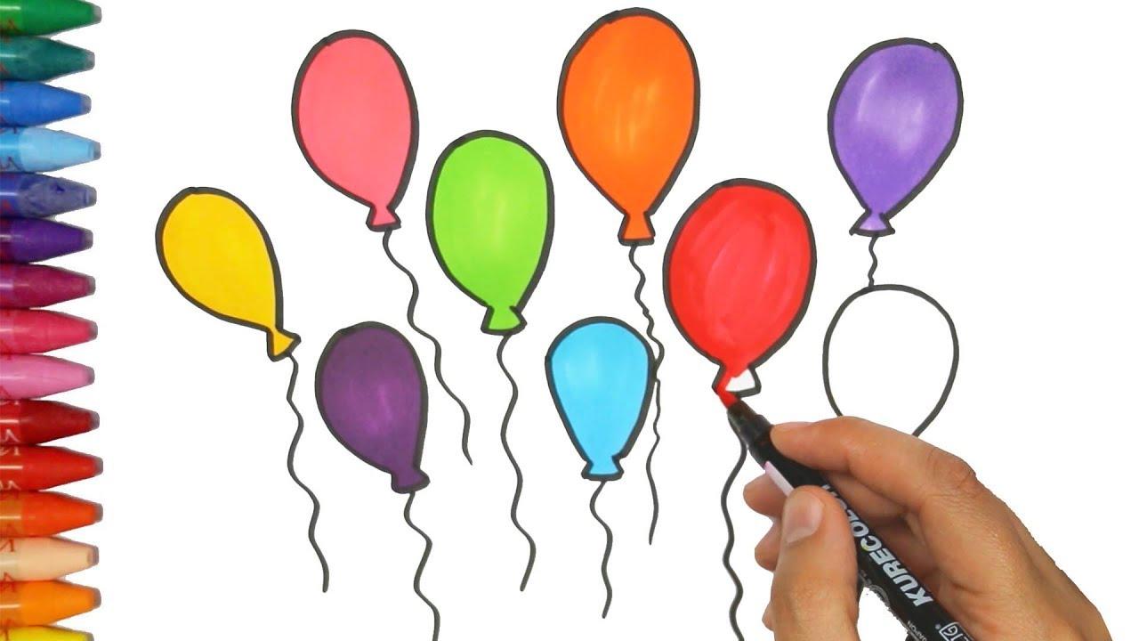 Wie Man Ballons Zeichnet - Wie Zeichnet Man Bunte Luftballons - Zeichnen  Und Ausmalen Für Kinder verwandt mit Luftballons Zum Ausmalen