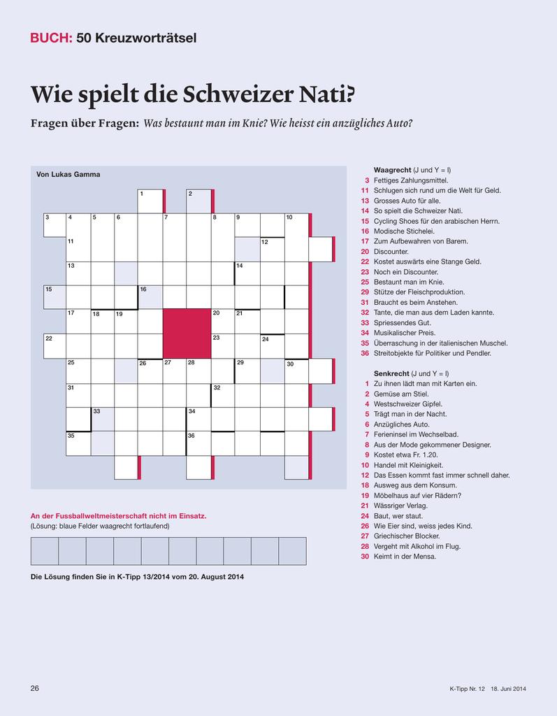 Wie Spielt Die Schweizer Nati? verwandt mit Fragen Für Kreuzworträtsel
