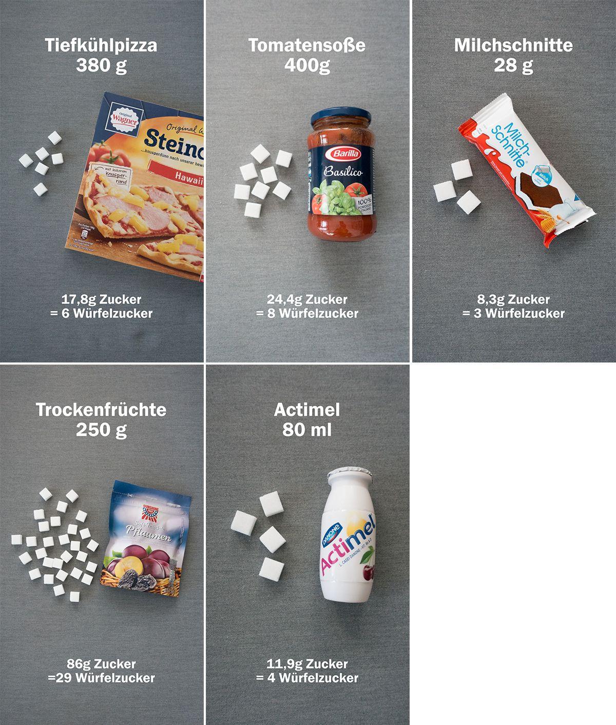 Wie Viel Zucker Steckt Drin   Lebensmittel Ohne Zucker mit Würfelzucker In Lebensmitteln Grundschule