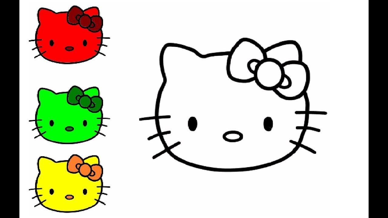 Wie Zeichnet Man Bunter Hello Kitty | Zeichnen Und Malen Für Kinder in Hello Kitty Zeichnen