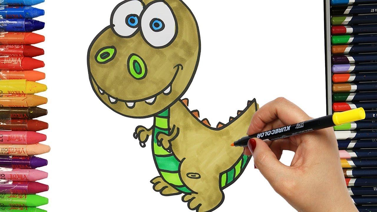 Wie Zeichnet Man Dinosaurier | Ausmalen Kinder | Kindervideos | Malen Und  Zeichnen Für Kinder ganzes Dino Zeichnen