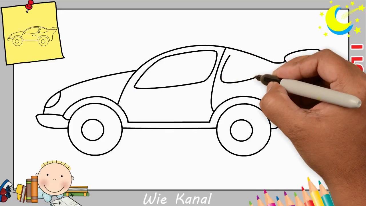 Wie Zeichnet Man Ein Auto Schritt Für Schritt Für Anfänger & Kinder - Auto  Zeichnen innen Auto Malen Einfach