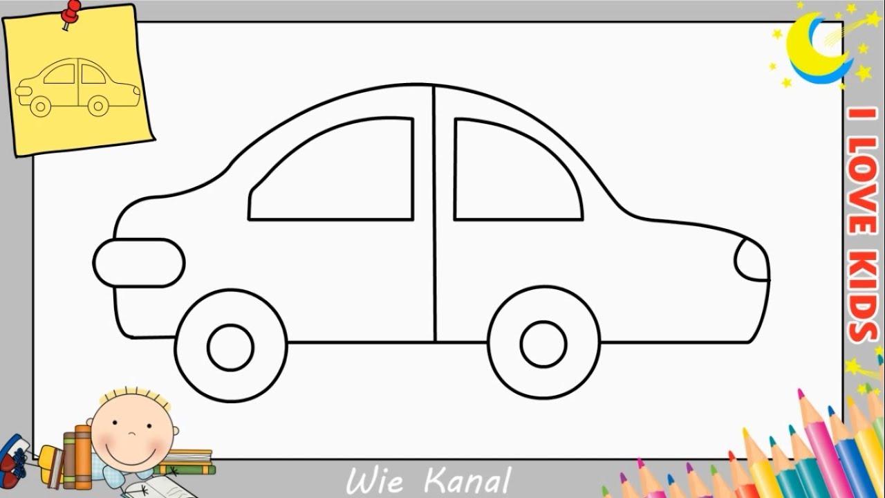 Wie Zeichnet Man Ein Auto Schritt Für Schritt Für Anfänger & Kinder - Auto  Zeichnen verwandt mit Auto Malen Einfach