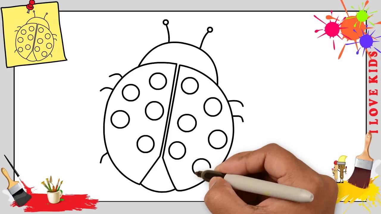 Wie Zeichnet Man Ein Marienkäfer Schritt Für Schritt Für Anfänger & Kinder 1 in Marienkäfer Selber Zeichnen