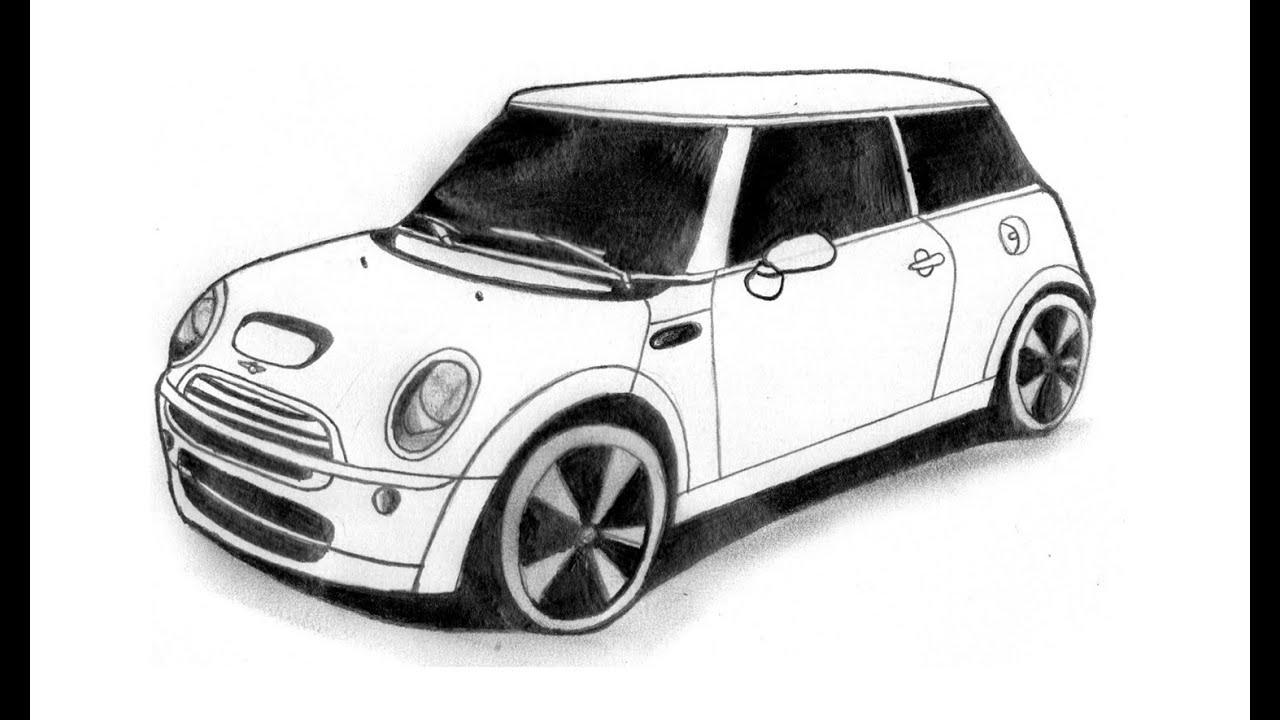 Wie Zeichnet Man Ein Mini Cooper (Auto) bestimmt für Auto Bilder Gezeichnet