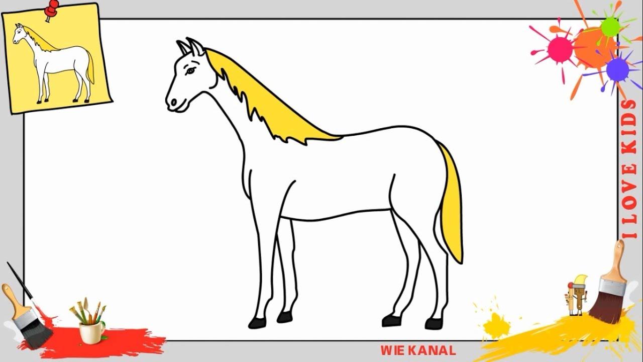 Wie Zeichnet Man Ein Pferd Schritt Für Schritt Für Anfänger - Pferd  Zeichnen Lernen mit Pferde Zeichnen Lernen Für Anfänger