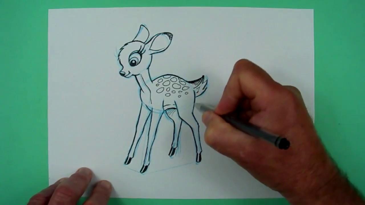 Wie Zeichnet Man Ein Rehkitz (Bambi)? Zeichnen Für Kinder innen Reh Zeichnen