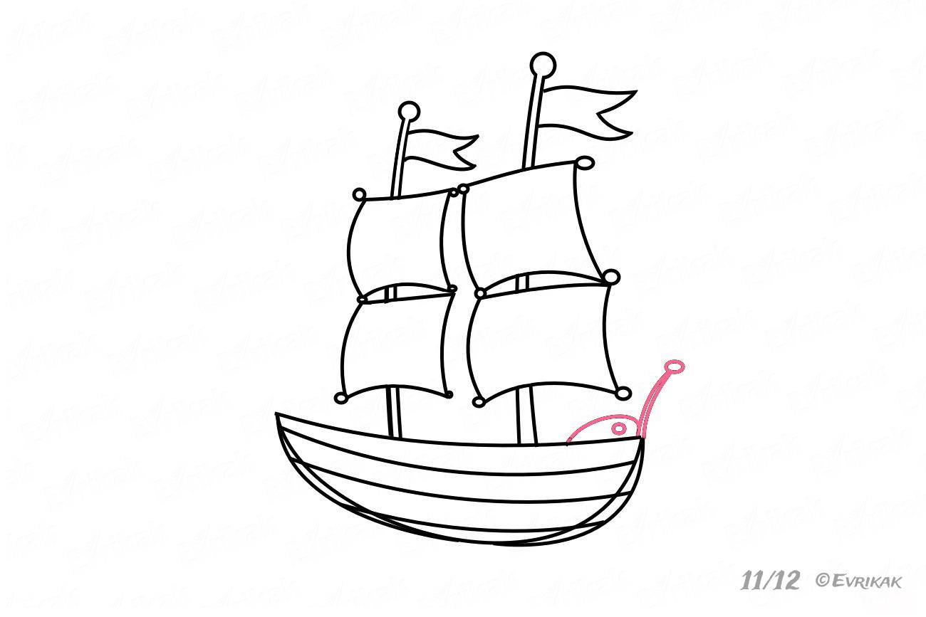 Wie Zeichnet Man Ein Schiff Mit Segeln Schritt Für Schritt innen Wie Zeichnet Man Ein Schiff
