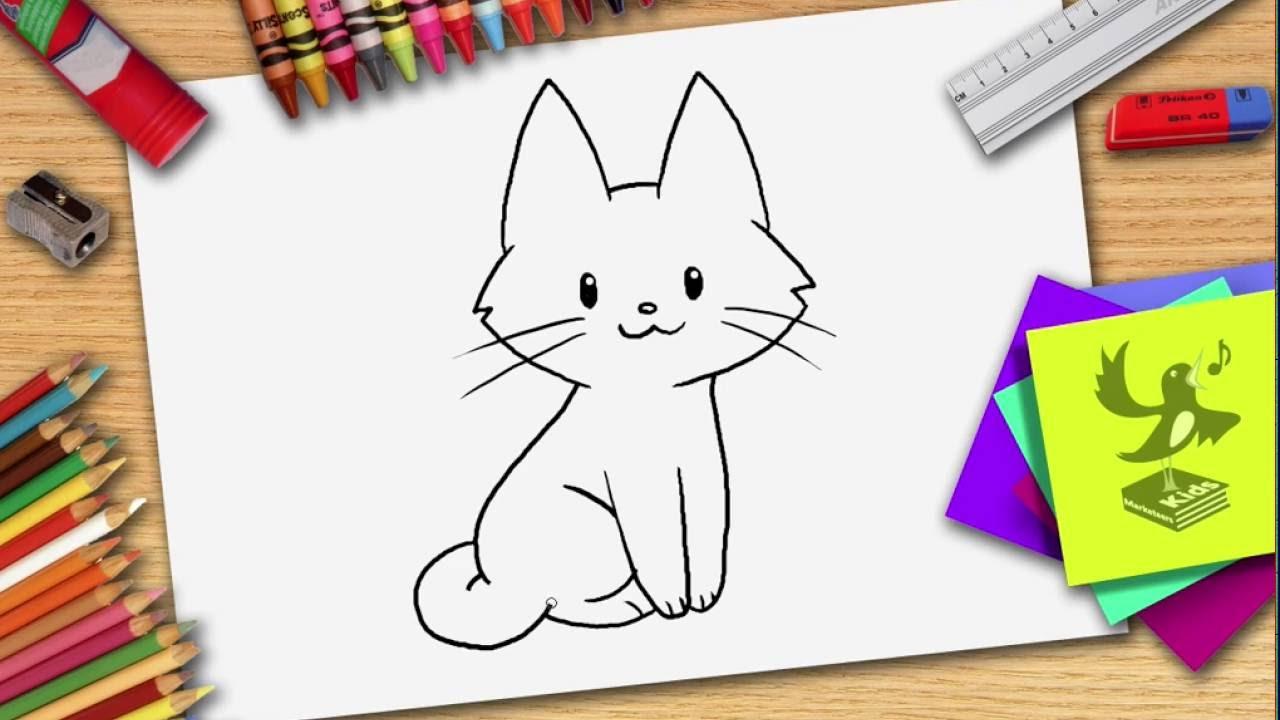 Wie Zeichnet Man Eine Katze - Katze Zeichnen Lernen innen Katze Malen Einfach
