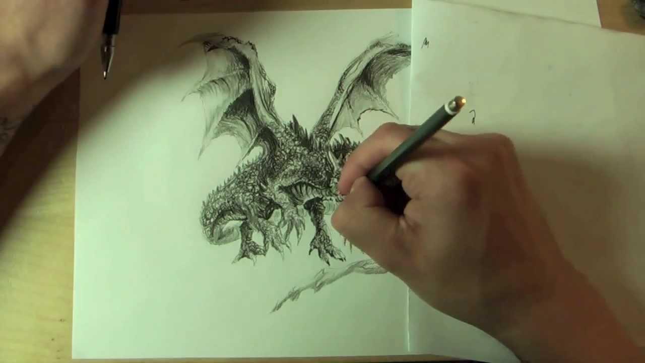 Wie Zeichnet Man Einen Drachen !!! How To Draw A Dragon !!! Online  Zeichenkurs über Perfekt Zeichnen